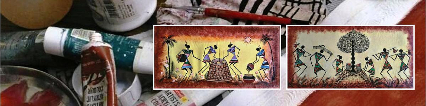 FOR SALE - Original Warli-Art paintings on canvas